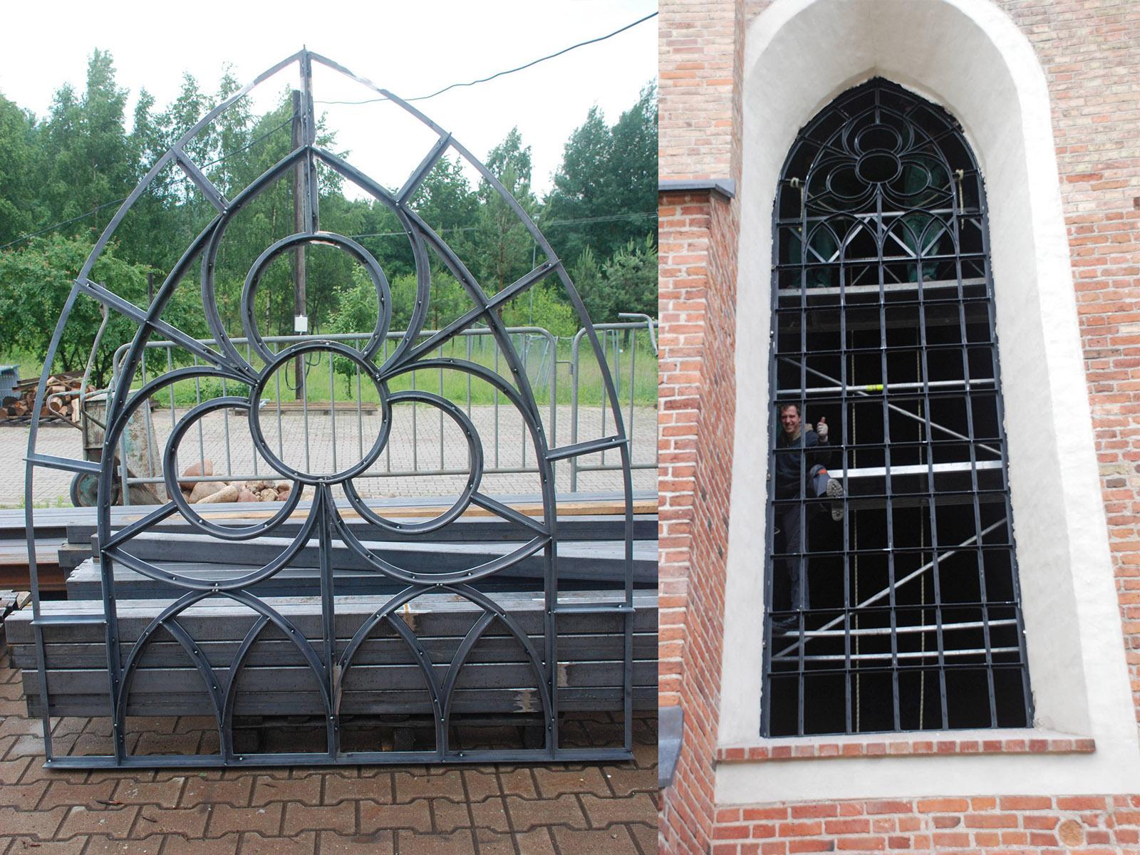 Zabezpieczenie zabytkowych okien w kościele